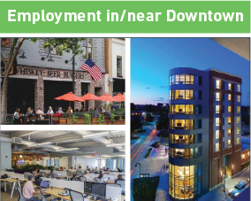 Employment in/near downtown
