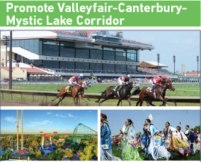 Promote Valleyfair-Canterbury-Mystic Lake Corridor